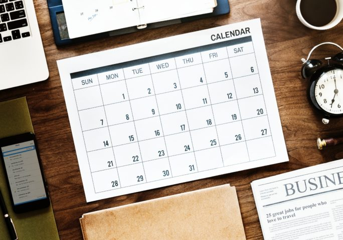 calendar for holidays for 2019